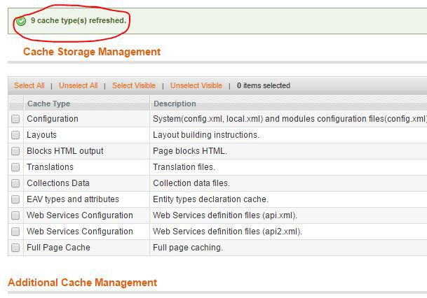 how to clear magento's cache part 3