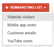 add adwords remarketing list